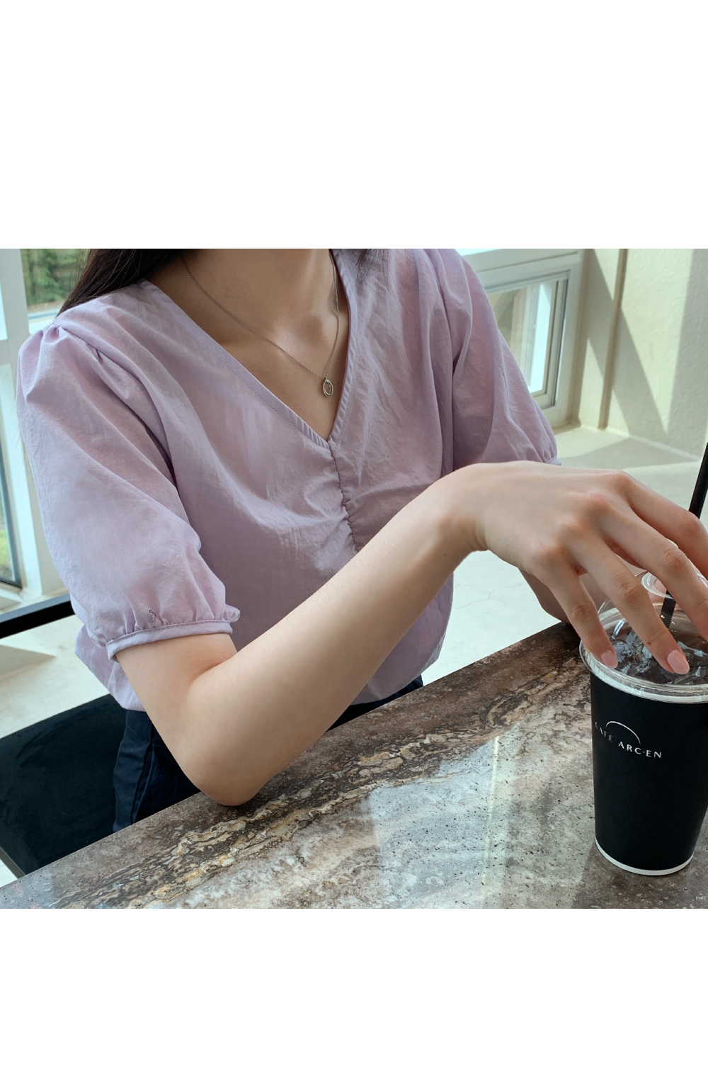 lily shirring blouse