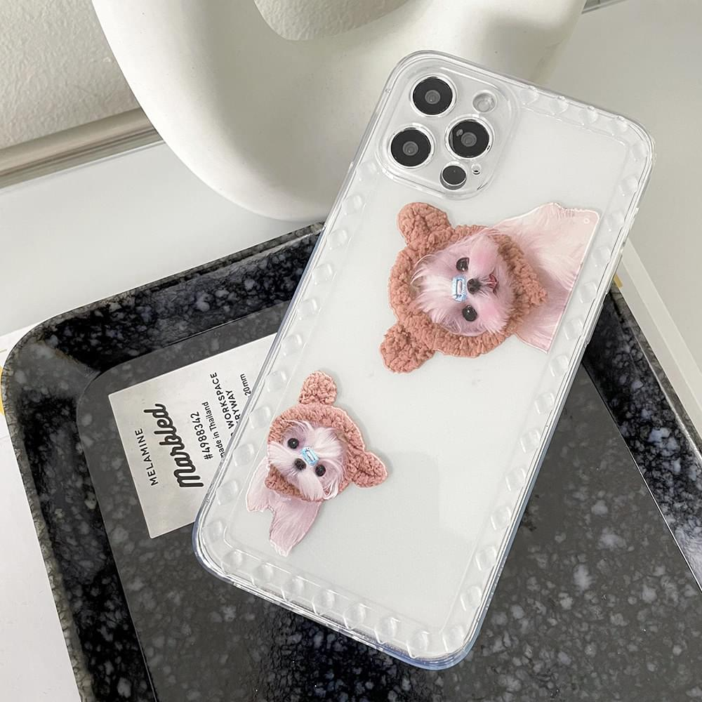 cute real puppy iphone case