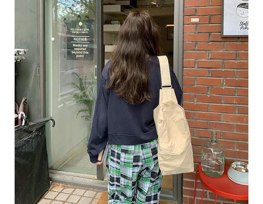 Cotton Pocket Sling Backpack
