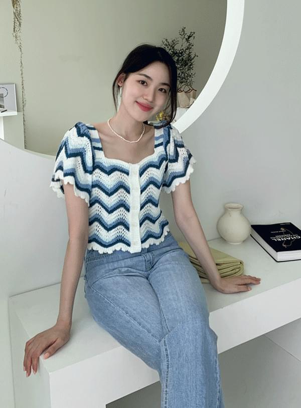 Ribbon Wavy Knitwear