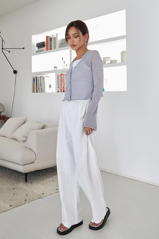 Wide linen long Pants
