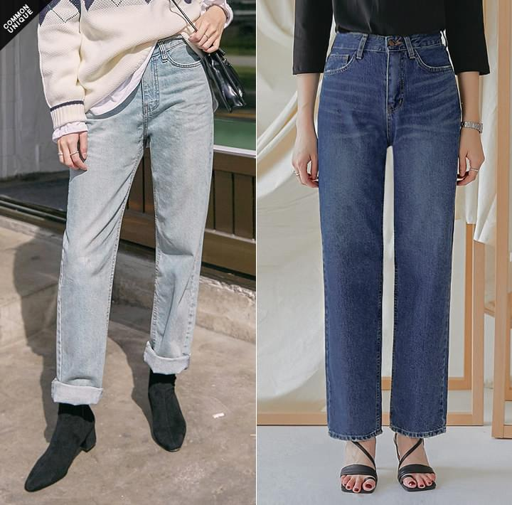 Whiskered Straight Jeans WITH CELEBRITY _ HUR YOUNGJI