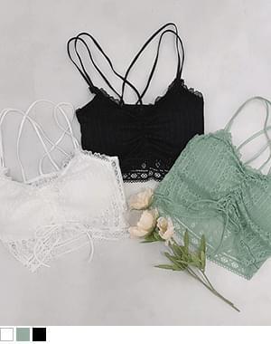 Yoru string bustier bra top