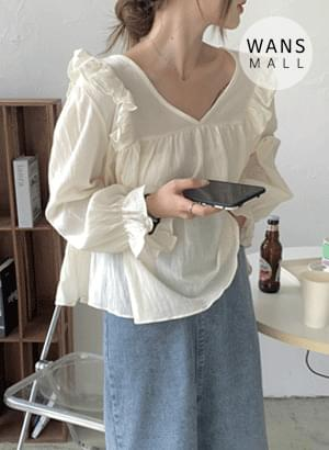 bl5128 Monsel Ruffle Loose-fit Fit Blouse