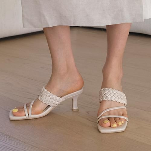 Merind twist strap mules slippers