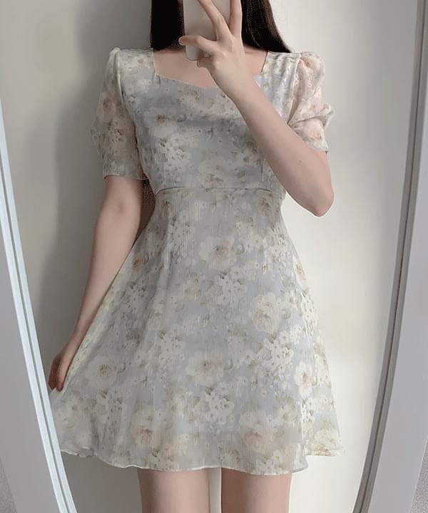 Arin Floral Chiffon Dress 2color