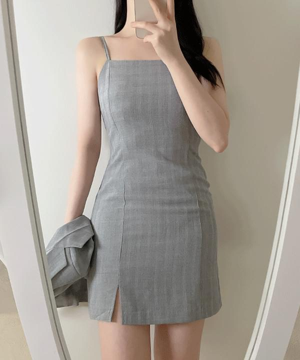 Is Check Sleeve Dress 2color