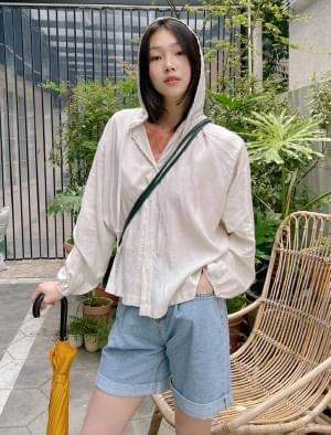 Let Me Linen Hooded Shirt