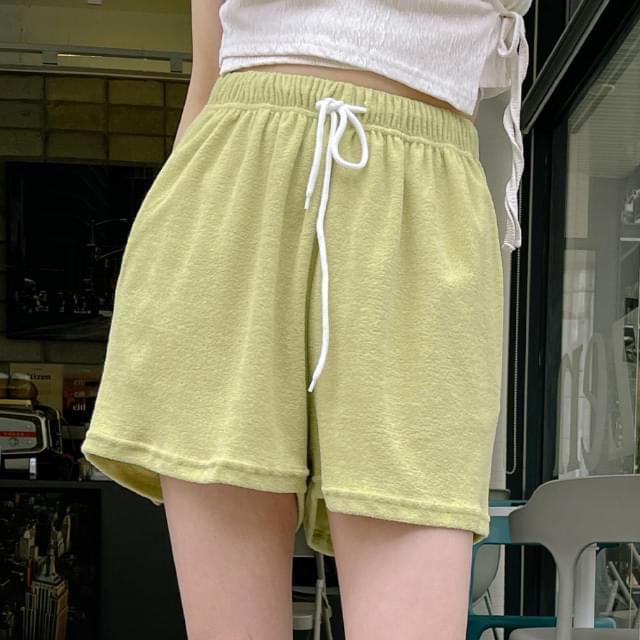 Dove String Terry Short Pants