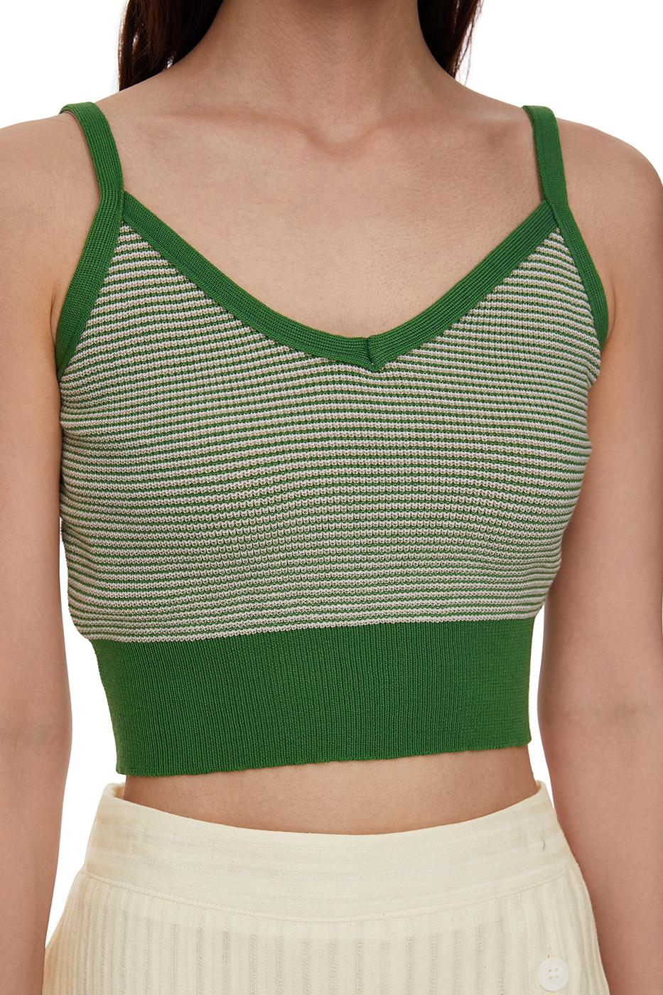 Under Striped Knitwear Top