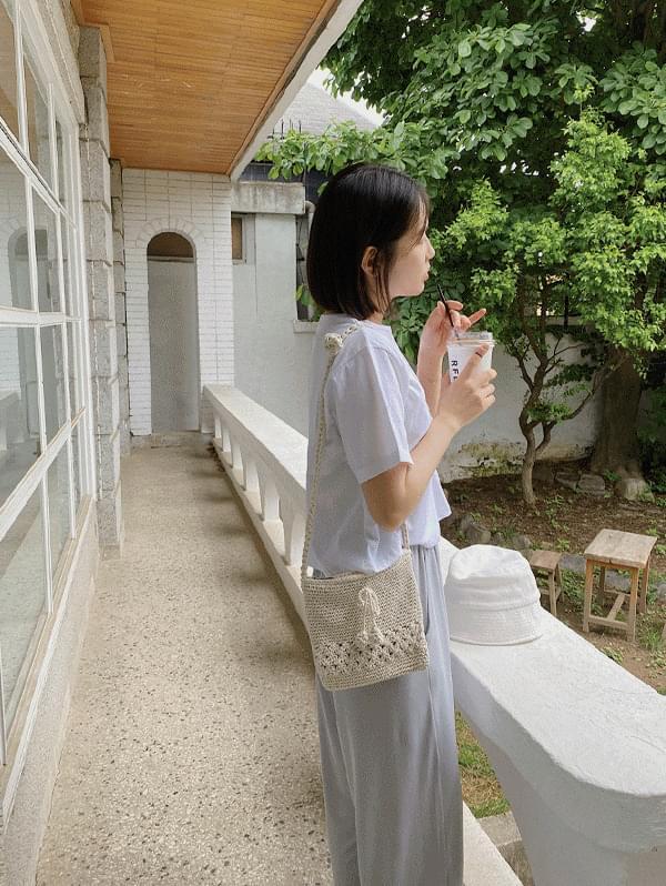 Cherry knit mini bag - 2color