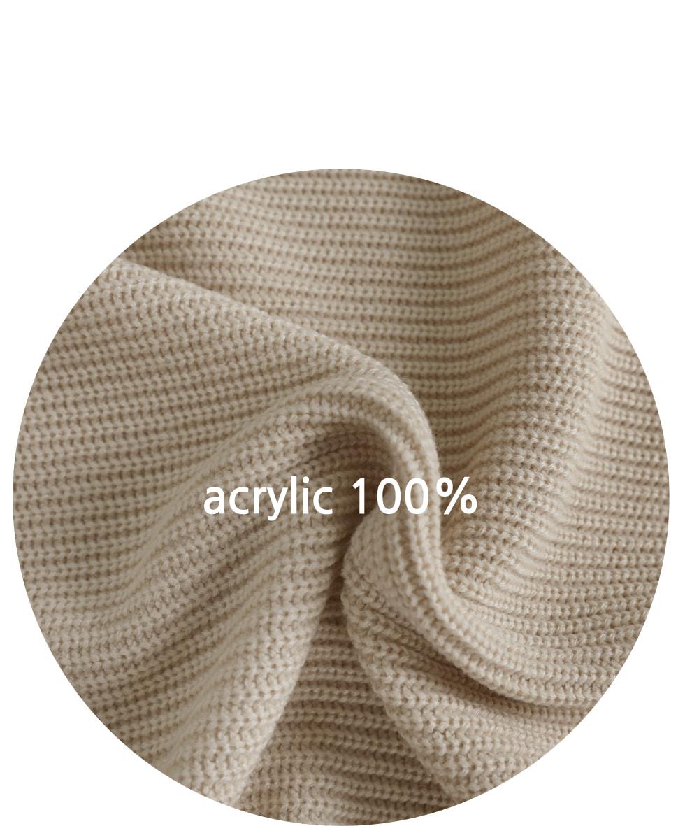 Run-on-Round Knitwear Vest
