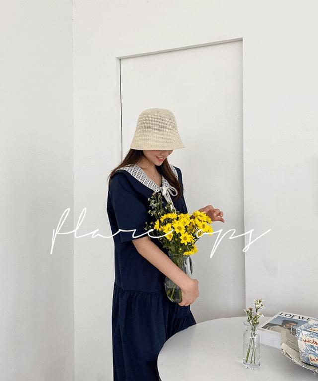 Big Size 66-120 Tori Sailor Long Cotton Dress