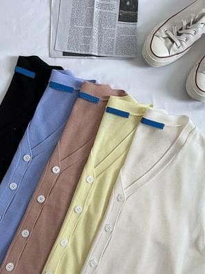 Day Button Button Knitwear Vest