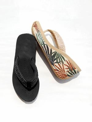 Vacation Wedge Jjali Mules Slippers 8cm