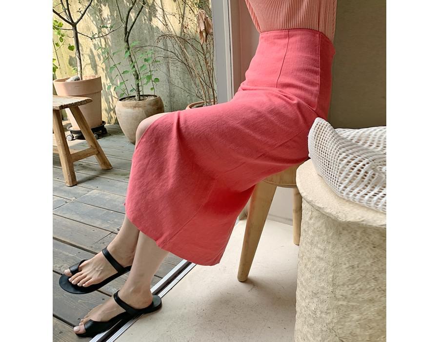 Sugar Linen H-Line Long Skirt