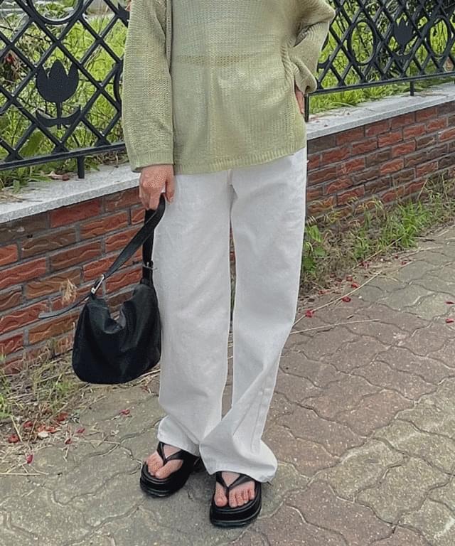 Parky Basic Wide Cotton Pants