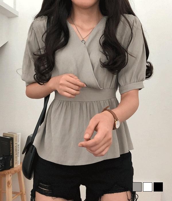 Miranda flared ribbon blouse