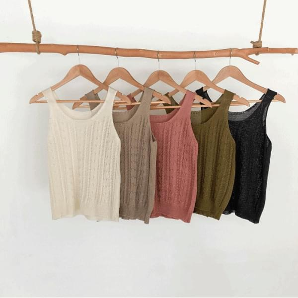 Good alone, Twisted Knitwear Sleeveless 無袖