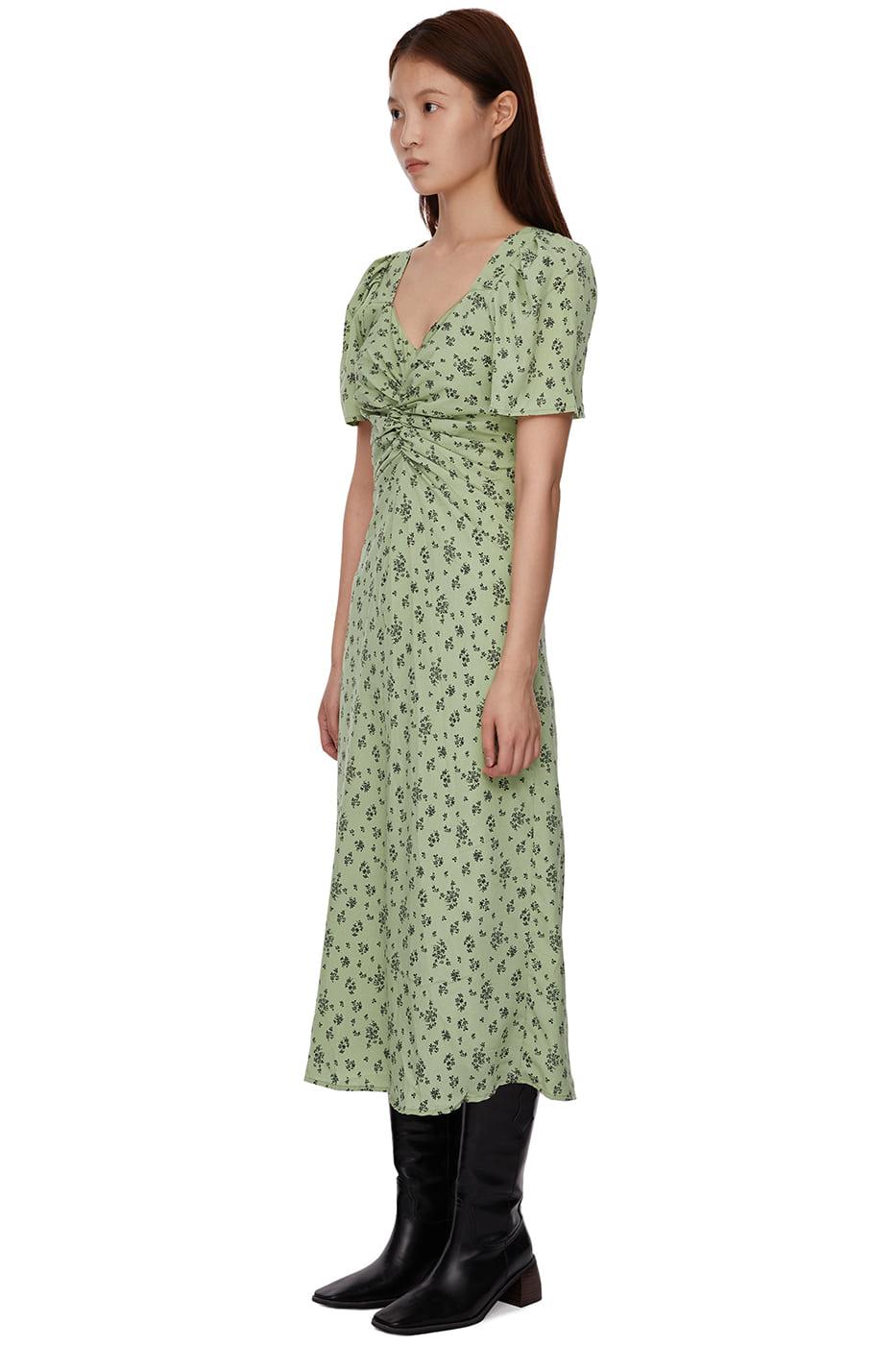 Flower Back Open Strap Long Dress