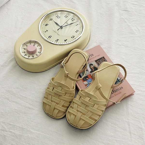 Pastel tone, glady weaving sandals 涼鞋