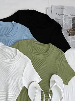Gelato Golzik Knitwear Crop Short Sleeve