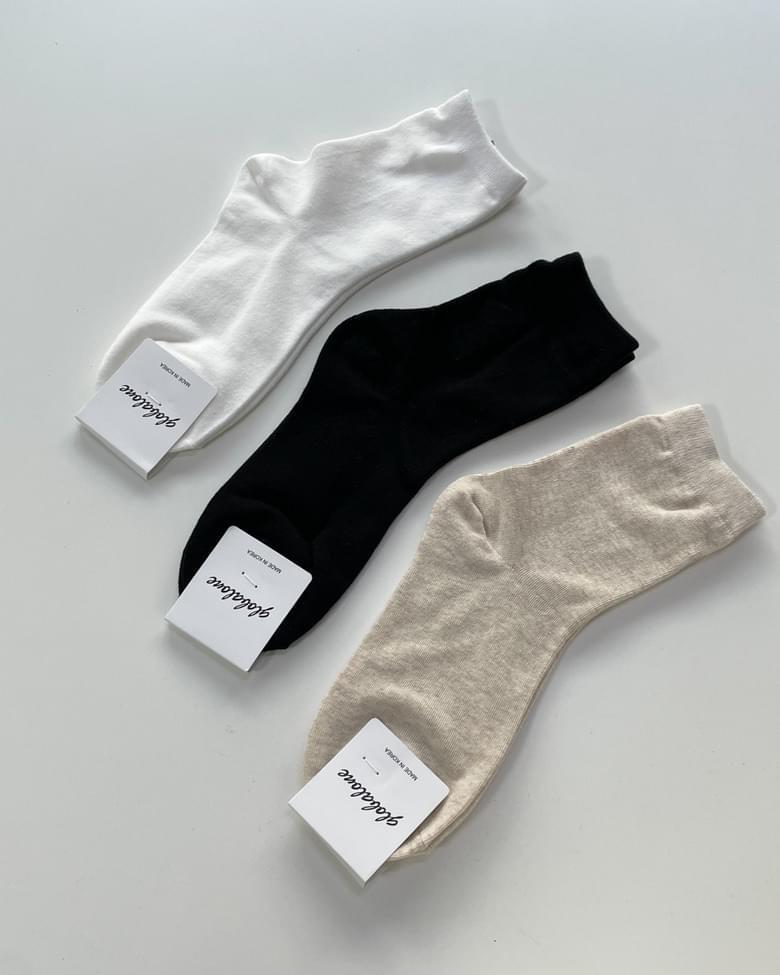 Basic plain long socks