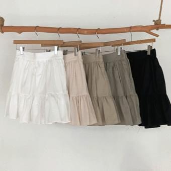 A lively frill mini skirt