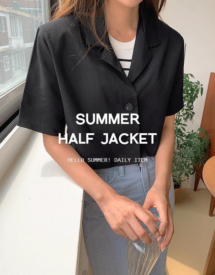 cropped half jacket
