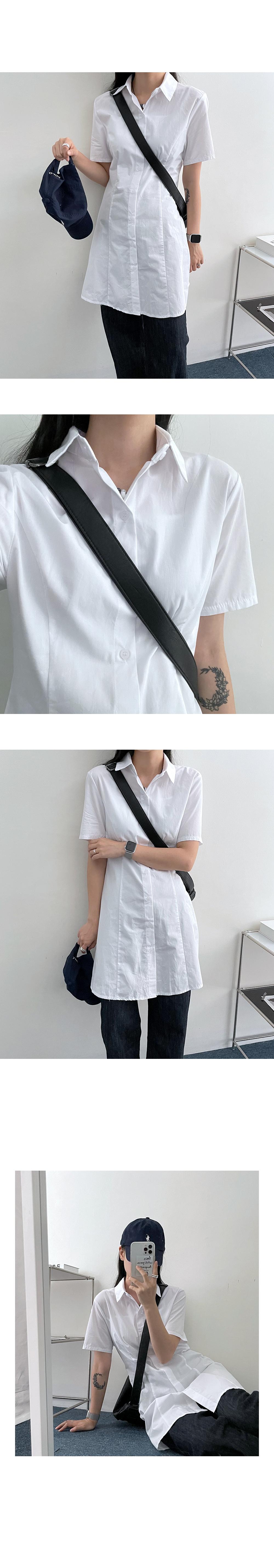Cloth Cotton Line Mini Shirt Dress