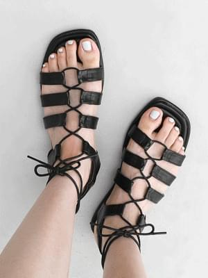 Glady Crossing Free Strap Flat Sandals 11022 ♡ 1st sold out♡