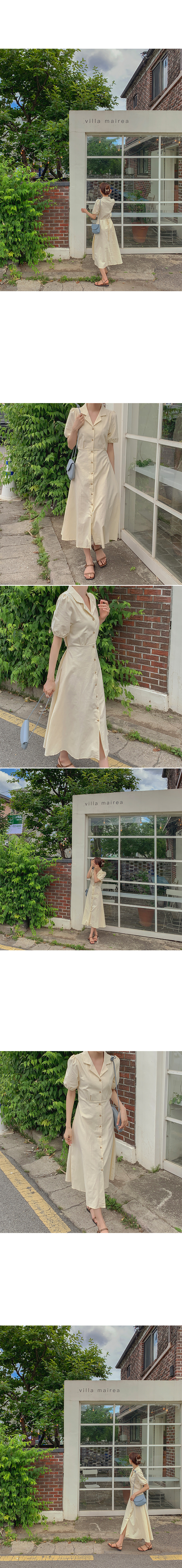 Merino Linen Dress(beige)