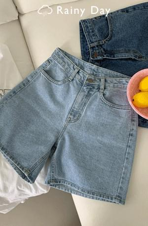 Faded Product Cold Washed 4 Denim Shorts