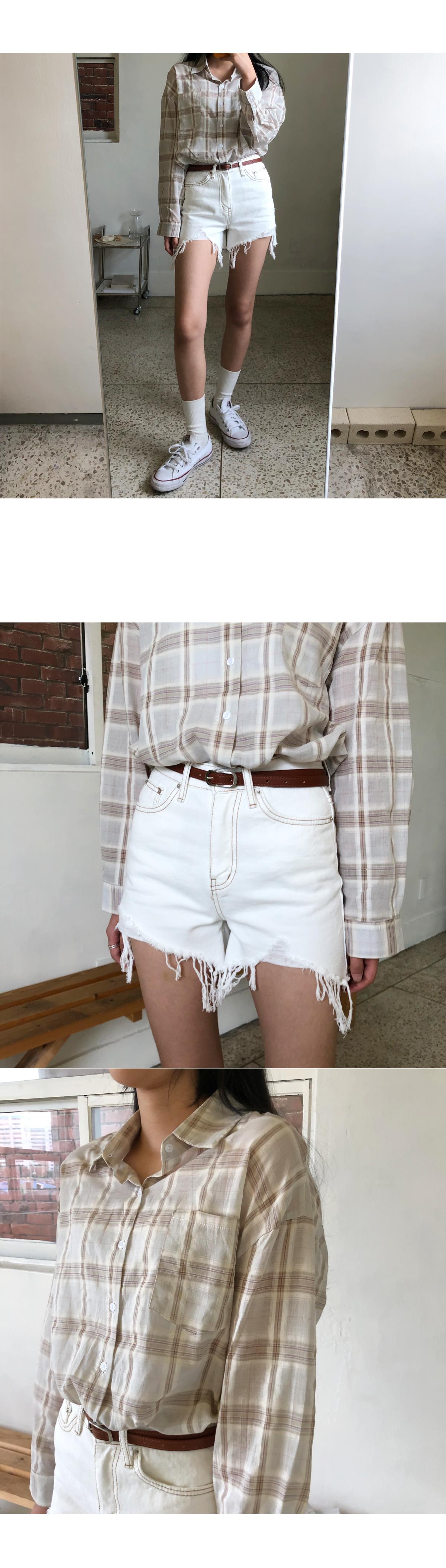 Bianca White Shorts