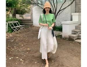 Dorothy pleated banding skirt