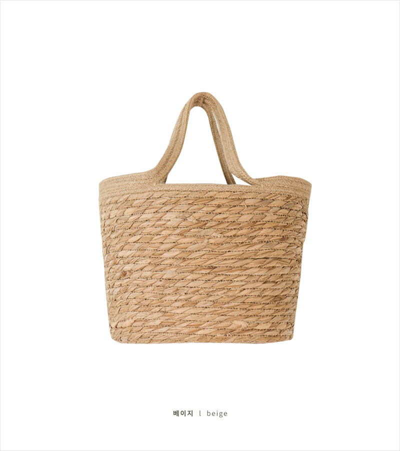 Emotional camping raffia bag