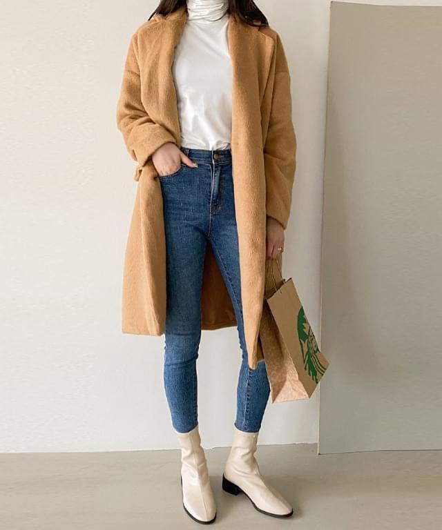 mohair overfit long coat
