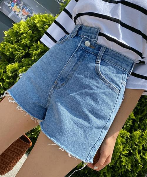 Obi Unbald Denim Short Pants