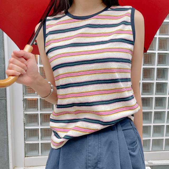 Hey stripe sleeveless