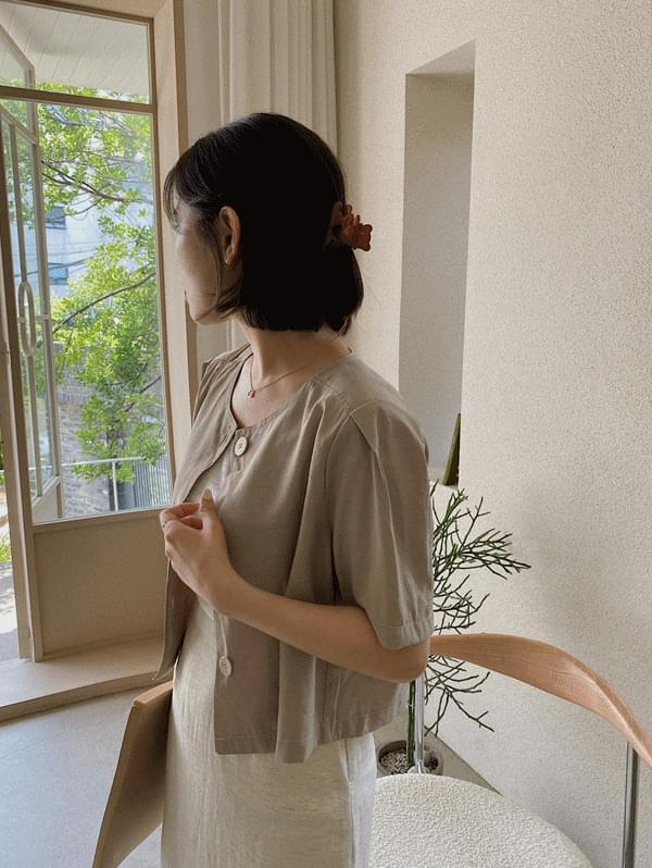 stitch short sleeve blouse