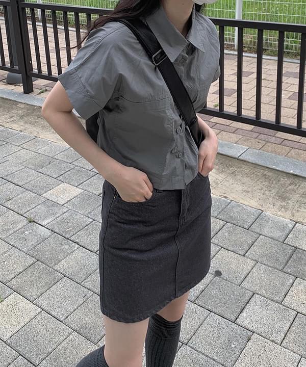 gray ash pocket shirt jacket