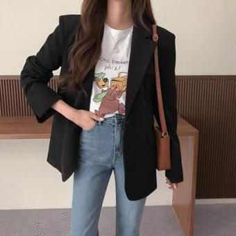Crystal, one-button overfit jacket