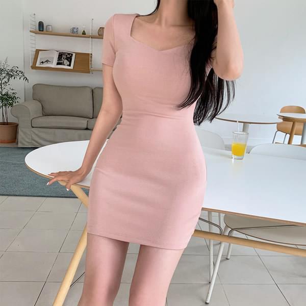Heather Square Neck Midi Dress