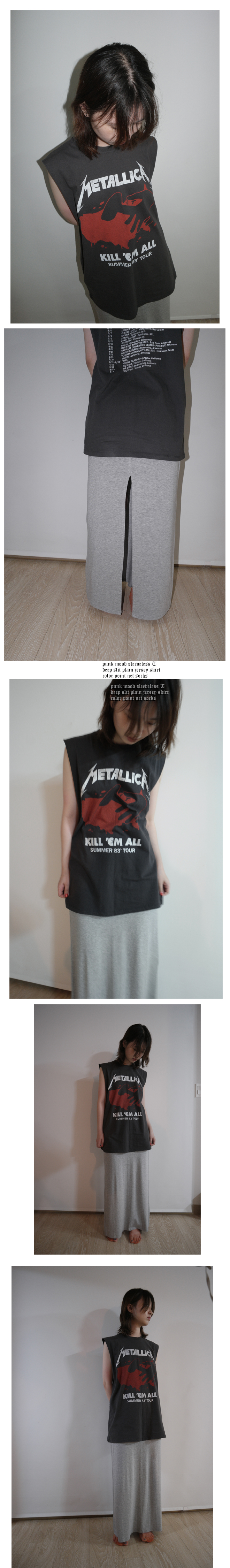 punk mood sleeveless T