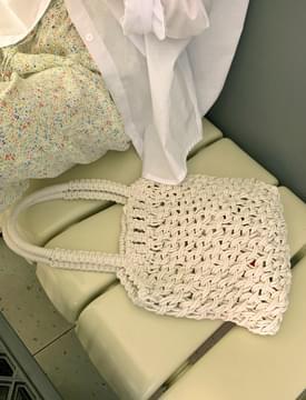 raffia crochet tote bag