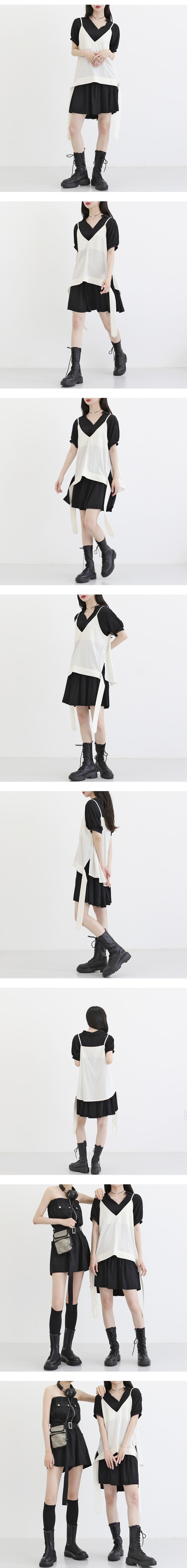 cake ruffle mini Dress
