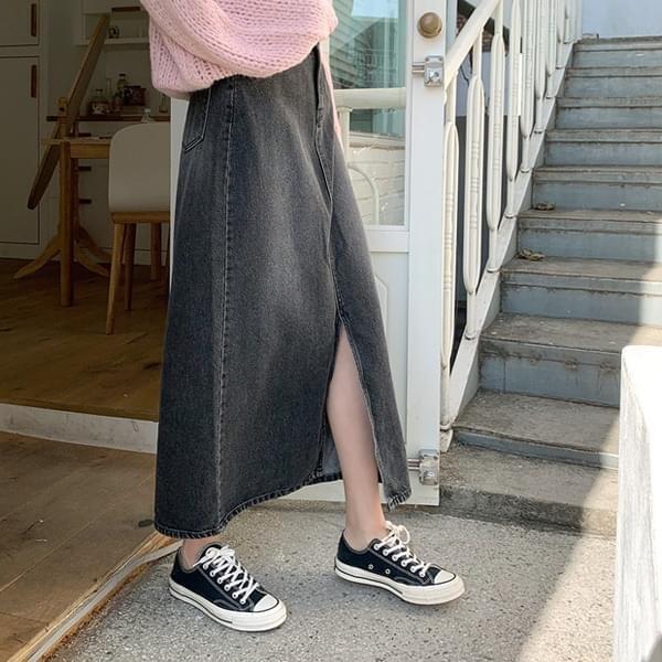 Maximum* Denim Long Skirt