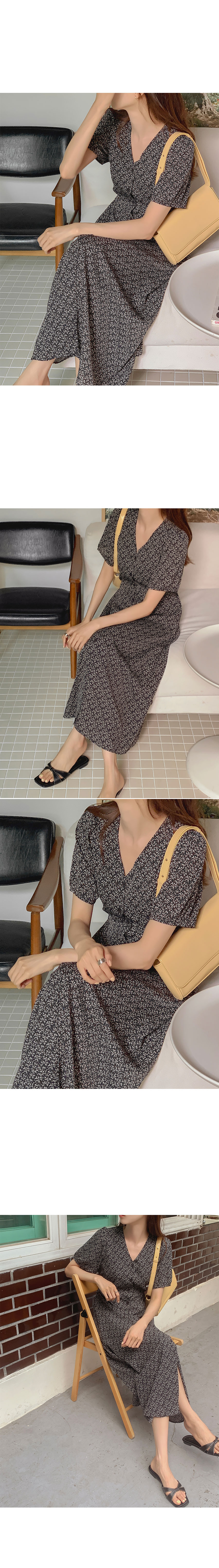Blendy Short Sleeve Dress(black)