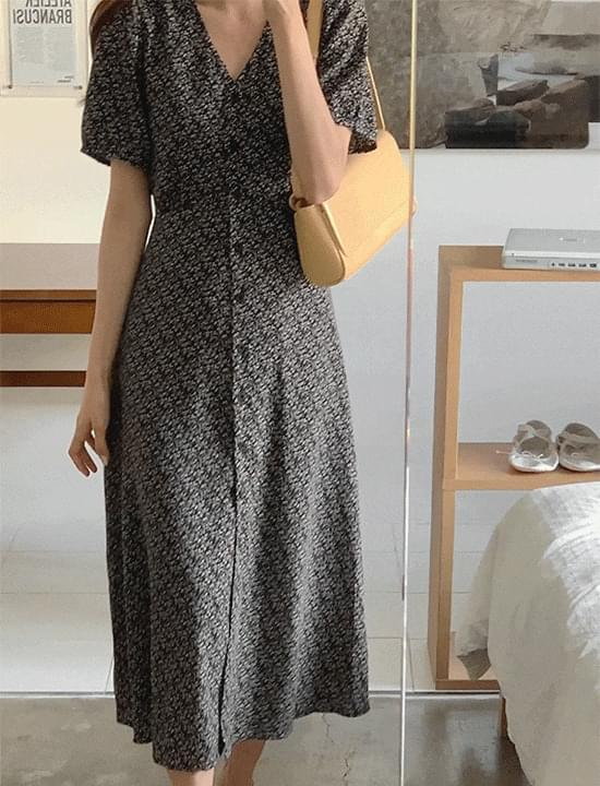 *Sequential delivery from July 27* Blendy short sleeve Dress(black)