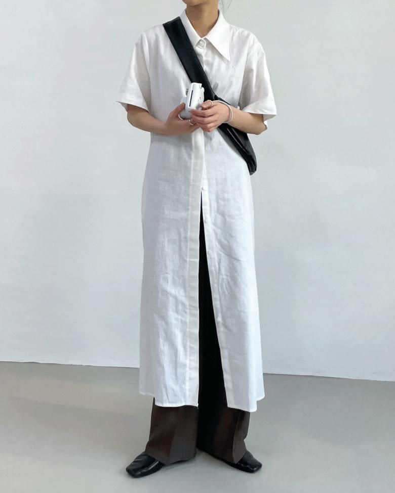 Wear Linen Long Shirt Dress